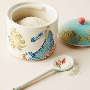 💥LAST ONE💥 Anthro Paige Sugar Pot & Spoon Set